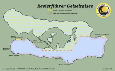 Karte Geiseltalsee
